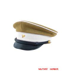 WWII Japanese IJA Army Ministry of Justice EM visor cap wool yellowish brown 第二次世界大戦 日本帝国陸軍 法務兵用軍帽制帽 ウール 黄褐色