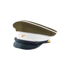 WWII Japanese IJA Army Ministry of Justice Officer visor cap Gabardine olive drab 第二次世界大戦 日本帝国陸軍 法務将校用制帽 ギャバジン製 茶褐色