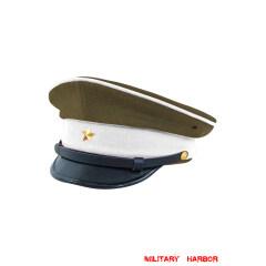 WWII Japanese IJA Army Ministry of Justice Officer visor cap Gabardine olive drab 第二次世界大戦 日本帝国陸軍 法務将校用制帽 ギャバジン製 茶褐色