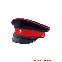 WWII Japanese IJA Army Military band visor cap wool dark blue 第二次世界大戦 日本帝国陸軍 軍樂隊軍帽制帽 ウール