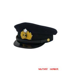 WWII Japanese IJN Navy visor cap wool blue 第二次世界大戦 日本帝国海軍軍帽制帽 ウール 青/ブルー