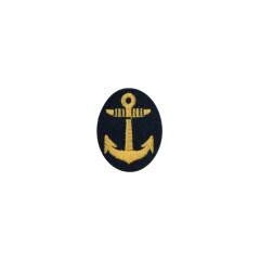 WWII Japanese IJN Navy First Type field cap insignia EM&NCO  第二次世界大戦 日本帝国海軍 一種兵用 下士官略帽の帽章 機械刺繍