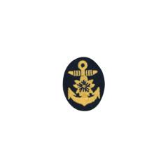 WWII Japanese IJN Navy First Type field cap insignia Officer 第二次世界大戦 日本帝国海軍 一種士官略帽の帽章 機械刺繍