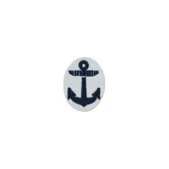 WWII Japanese IJN Navy Second Type field cap insignia EM&NCO  第二次世界大戦 日本帝国海軍 二種兵用 下士官略帽の帽章 機械刺繍