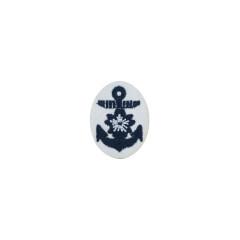 WWII Japanese IJN Navy Second Type field cap insignia Officer  第二次世界大戦 日本帝国海軍 二種士官略帽の帽章 機械刺繍
