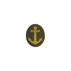 WWII Japanese IJN Navy Third Type field cap insignia EM BEVO 第二次世界大戦 日本帝国海軍 三種兵用略帽の帽章 織る