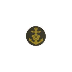 WWII Japanese IJN Navy Third Type field cap insignia NCO BEVO 第二次世界大戦 日本帝国海軍 三種下士官略帽の帽章 織る