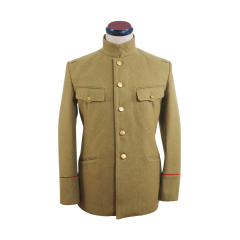 WWII Japanese IJA M1912 Type45 Officer Wool tunic yellowish brown 第二次世界大戦日本帝国陸軍 四五式士官将校用ジャケット軍衣 ウール黄褐色
