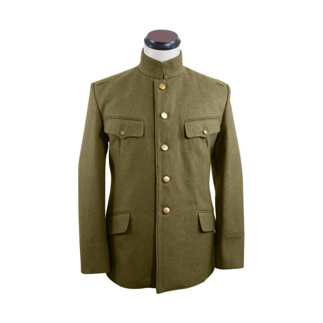 WWII Japanese IJA M1930 Showa Type 5 Officer Wool tunic olive drab 第二次世界大戦日本帝国陸軍 昭五式士官将校用ジャケット軍衣 ウール茶褐色