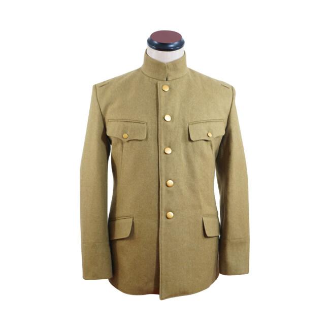 WWII Japanese IJA M1930 Showa Type 5 Officer Wool tunic yellowish brown 第二次世界大戦日本帝国陸軍 昭五式士官将校用ジャケット軍衣 ウール黄褐色