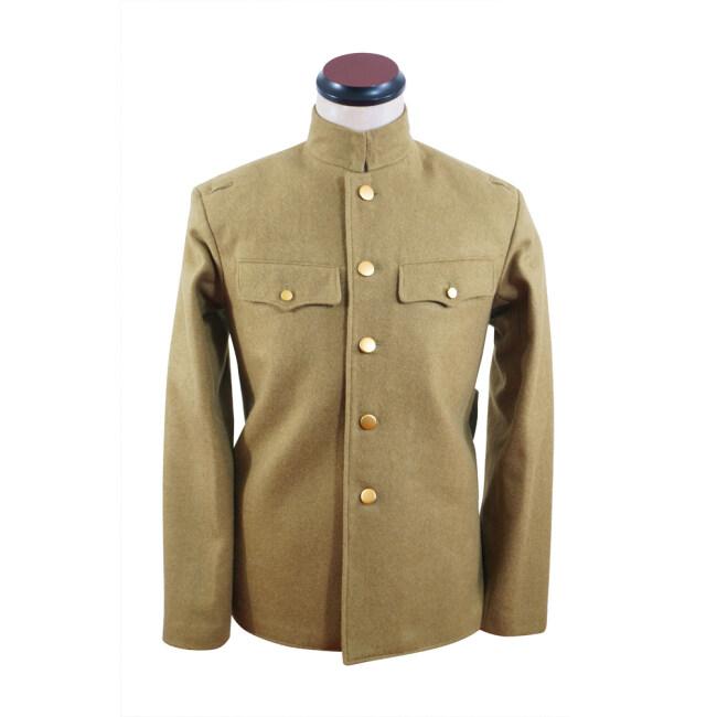 WWII Japanese IJA M1930 Showa Type 5 EM Wool tunic yellowish brown 第二次世界大戦日本帝国陸軍 昭五式兵用ジャケット軍衣 ウール黄褐色