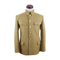 WWII Japanese IJA M1938 Type 98 M98 Officer Wool tunic yellowish brown 第二次世界大戦日本帝国陸軍 九八式士官将校用ジャケット軍衣 ウール黄褐色