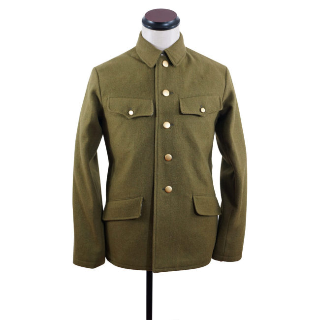 WWII Japanese IJA M1938 Type 98 M98 EM Wool tunic olive drab 第二次世界大戦日本帝国陸軍 九八式兵用ジャケット軍衣 ウール茶褐色