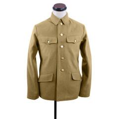 WWII Japanese IJA M1938 Type 98 M98 EM Wool tunic yellowish brown 第二次世界大戦日本帝国陸軍 九八式兵用ジャケット軍衣 ウール黄褐色
