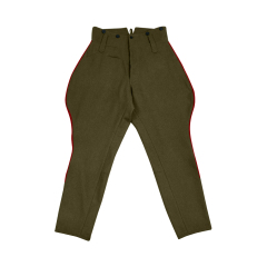 WWII Japanese IJA M1912 Type45 Officer wool breeches olive drab 第二次世界大戦日本帝国陸軍 四五式 乗馬ズボン 茶褐色