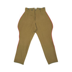 WWII Japanese IJA M1912 Type45 Officer wool breeches yellowish brown 第二次世界大戦日本帝国陸軍 四五式 乗馬ズボン ウール 黄褐色