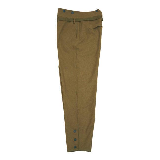 WWII Japanese IJA M1930 Showa Type 5 EM wool trousers yellowish brown 第二次世界大戦日本帝国陸軍 昭五式 ズボン ウール 黄褐色