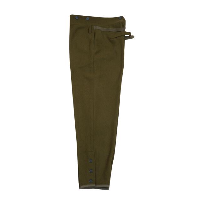 WWII Japanese IJA M1938 Type 98 M98 EM wool trousers olive drab 第二次世界大戦日本帝国陸軍 九八式 ズボン ウール 茶褐色