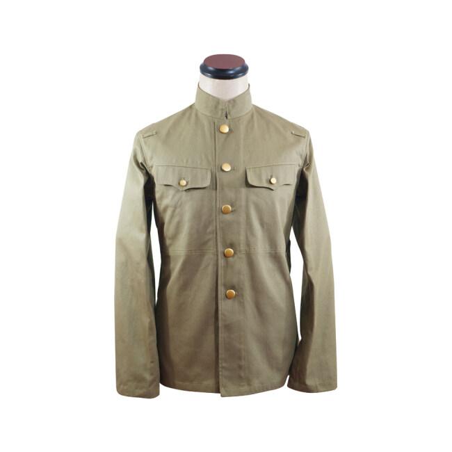 WWII Japanese IJA M1930 Showa Type 5 EM summer Khaki field tunic 第二次世界大戦日本帝国陸軍 昭五式夏用兵用ジャケット軍衣