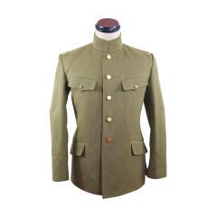 WWII Japanese IJA M1930 Showa Type 5 Officer Summer Gabardine tunic 第二次世界大戦日本帝国陸軍 昭五式士官将校用夏用ジャケット軍衣 ギャバジン材料