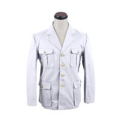 WWII Japanese IJN Navy Naval air force service tunic/jacket White 第二次世界大戦 日本帝国海軍航空兵白作業衣 白/ワイト