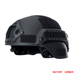 Military Army MICH2000 Tactical Helmet ABS for airsoft black