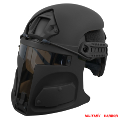 Desert Raider Bounty Hunter Helmet Mask for Ops-Core FAST (mask only) BLACK