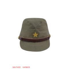 WWII Japanese IJA Army Officer field cap cotton Khaki 第二次世界大戦 日本帝国陸軍 士官将校用略帽戦闘帽 棉