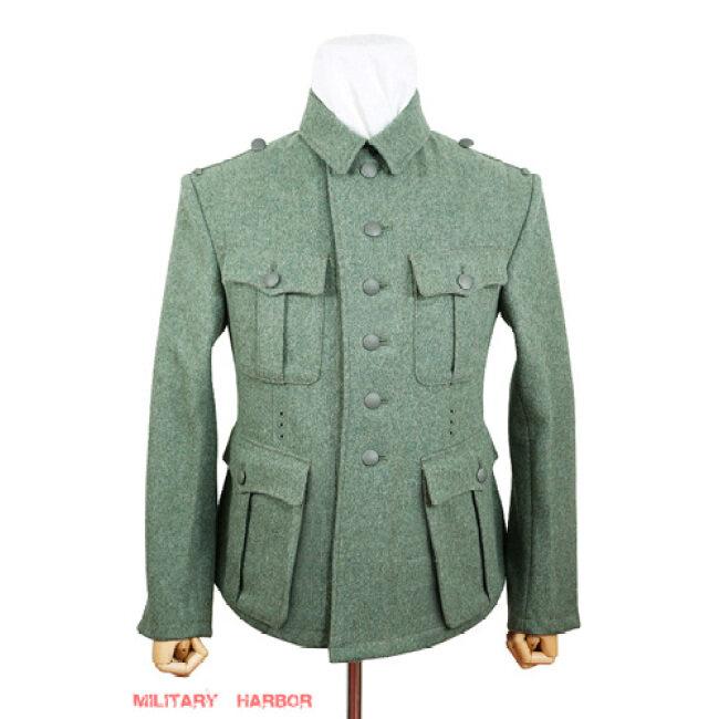 WWII German M41 SS EM fieldgrey wool tunic Feldbluse