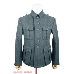 WWII German M41 SS EM Italian Field Wool tunic Feldbluse blue green grey