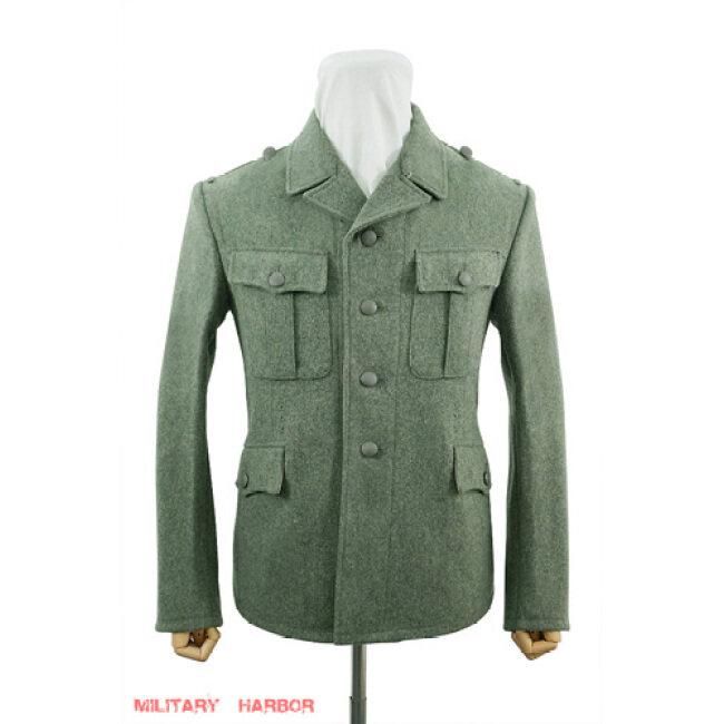 WWII German M37 SS EM fieldgrey wool tunic Feldbluse