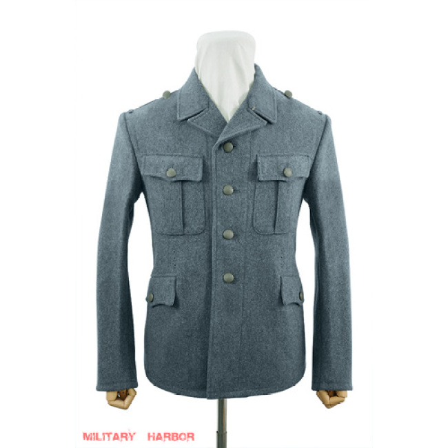 WWII German M37 SS EM Italian Field Wool tunic Feldbluse blue green grey