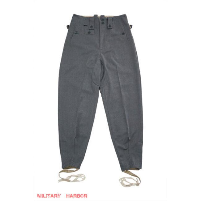WWII German SS M43 Grey Gabardine trousers keilhosen