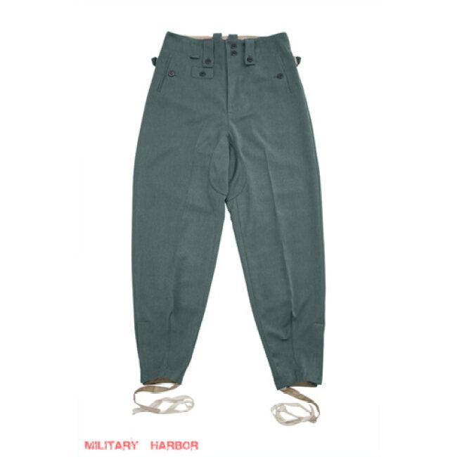 WWII German SS M43 Fieldgrey Gabardine trousers keilhosen