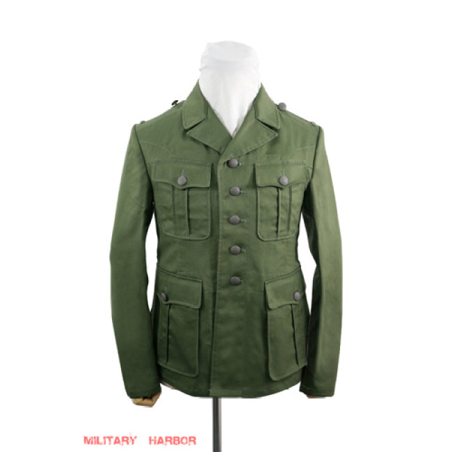 WWII German DAK/Tropical Afrikakorps olivebrown field tunic 1st pattern/M40