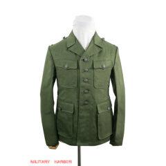 WWII German DAK/Tropical Afrikakorps olive field tunic 2nd pattern/M42
