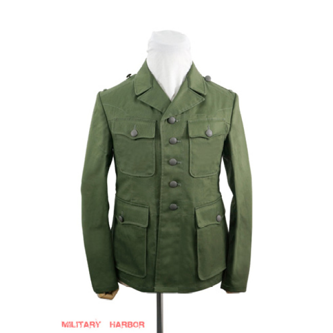 WWII German DAK/Tropical Afrikakorps olivebrown field tunic 2nd pattern/M42