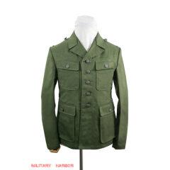 WWII German DAK Tropical Afrikakorps olive field tunic 3rd pattern M43