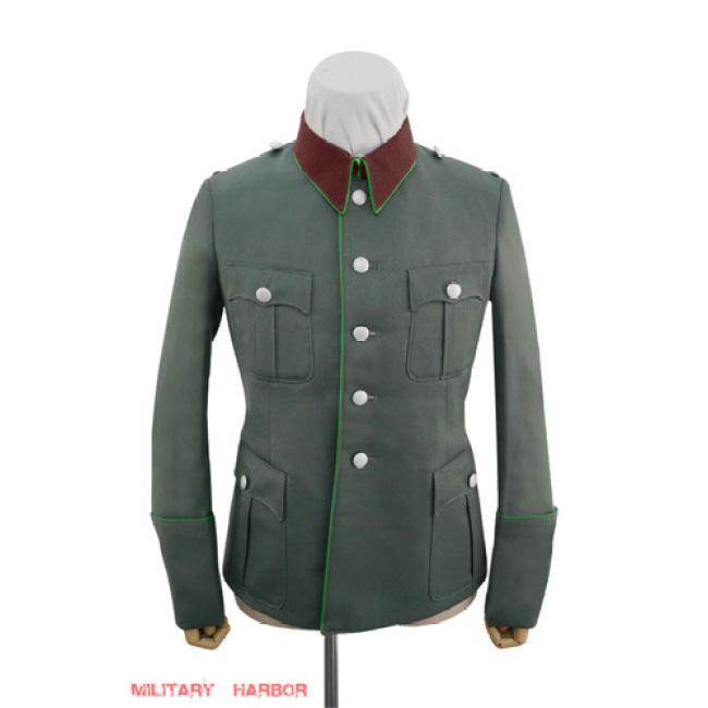 WWII German police officer Gabardine modified waffenrock tunic