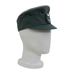 WWII German Mountaineer (Gebirgsjäger) Officer Gabardine field cap small visor field grey