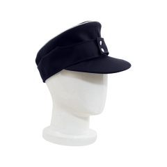 WWII German M43 Kriegsmarine Officer Gabardine Field Cap Navy blue