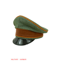 WWII German Gendarmerie Officer Wool Visor cap