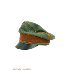 WWII German Gendarmerie Officer Wool Crusher Visor cap