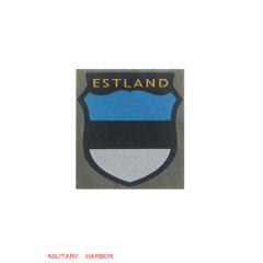 WWII German Estonian Volunteer's armshield BeVo