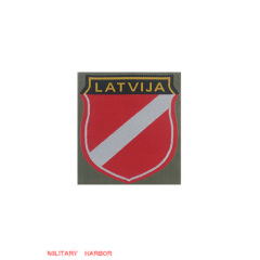 WWII German Latvian Volunteer's armshield I BeVo