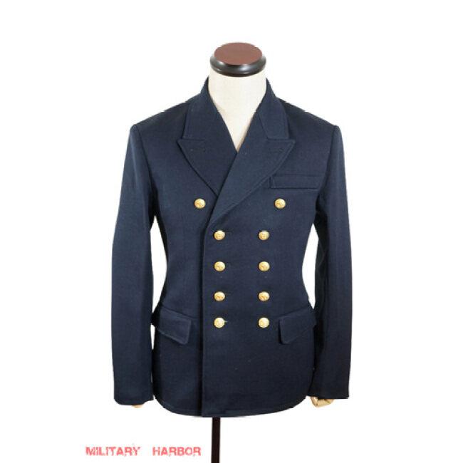 WWII German Kriegsmarine officer navy blue wool Reefer tunic jacket