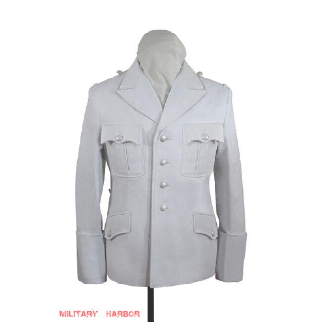 WWII German SS M32 white cotton summer tunic