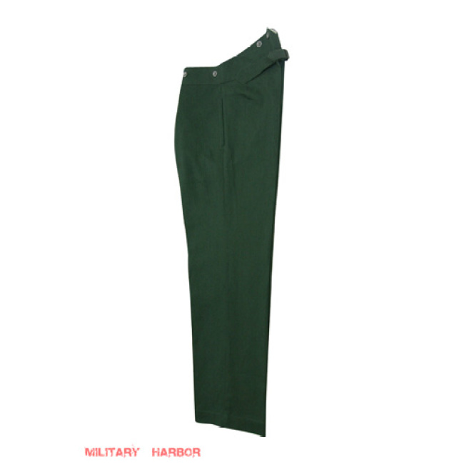 WWII German Summer HBT reed green Drill service trousers