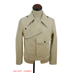 WWII German Heer panzer summer HBT off-white wrap/jacket type II