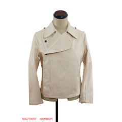 WWII German SS panzer summer off-white HBT wrap/jacket